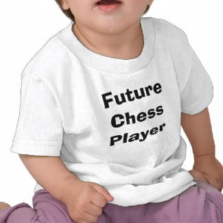Future Chess Player Toddler Children Chess Tshirt by CricketDiane 2013