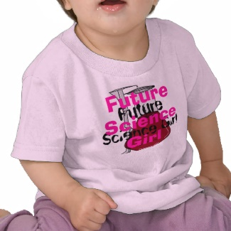 Future Science Girl Children Pink Girly Sci Tshirt by CricketDiane 2013