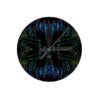 Futurism Futuristic Abstract Art Thing Wall Clock by CricketDiane 2013