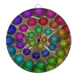 Futuristic 3d Rainbow Dart Board 12 m by CricketDiane 2013