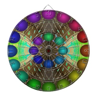 Futuristic 3d Rainbow Dart Board 16 by CricketDiane 2013