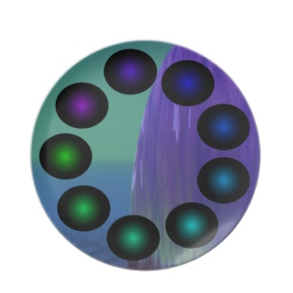 Futuristic Futurism 3D Design Colorful Balls Plate 19 by CricketDiane 2013