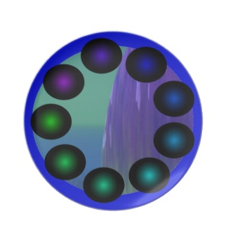 Futuristic Futurism 3D Design Colorful Balls Plate 16 by CricketDiane 2013