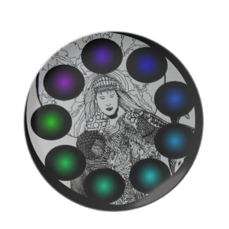 Futuristic Futurism 3D Design Colorful Balls Plate 22 by CricketDiane 2013