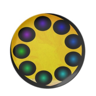 Futuristic Futurism 3D Design Colorful Balls Plate 32 by CricketDiane 2013