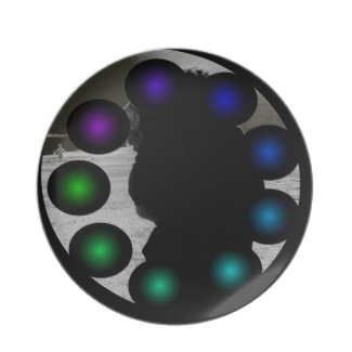Futuristic Futurism 3D Design Colorful Balls Plate 36 by CricketDiane 2013