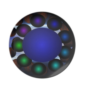 Futuristic Futurism 3D Design Colorful Balls Universe Space Plate 39 by CricketDiane 2013