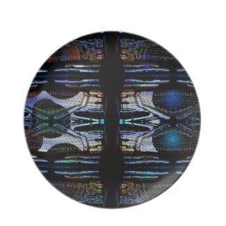 Futuristic Futurism 3D Design Colorful Balls Universe Space Plate 43 by CricketDiane 2013