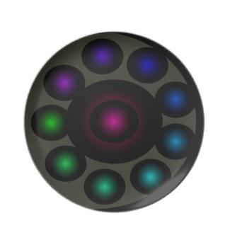 Futuristic Futurism 3D Design Colorful Balls Universe Space Plate 49 by CricketDiane 2013
