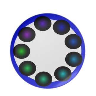 Futuristic Futurism 3D Design Colorful Balls Plate 12 by CricketDiane 2013