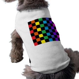 Gay Pride Rainbow Gifts Chessboard Dog Tshirt by CricketDiane 2013