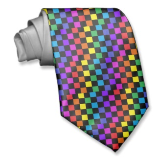 Gay Pride Rainbow Gifts Chessboard Tie by CricketDiane 2013
