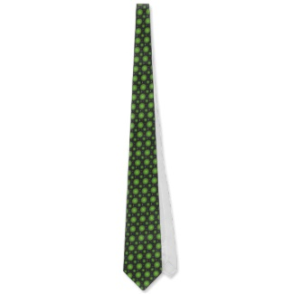 Green 3d Optical Illusion Electronics Men's Ties by CricketDiane 2013