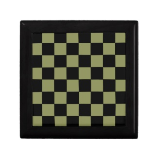 Hipster Army Green Checkerboard Chessboard Gift Box by CricketDiane 2013