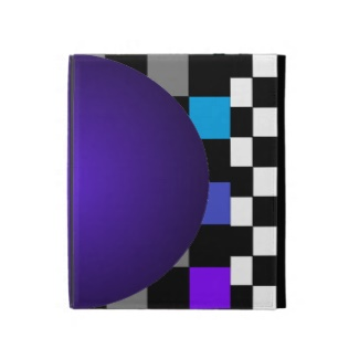 Hipster B/W Checkerboard 3D Illusion Purple Ball and Secondary Color Field Chessboard by CricketDiane 2013
