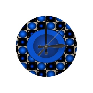 Blue Optical Illusion 3D Design Ball Clock by CricketDiane 2013