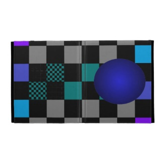Hipster Checkerboard Squares iPad Folio Case by CricketDiane 2013