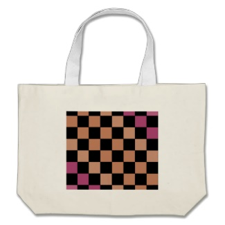 Hipster Modern Checkerboard Canvas Tote Bag by CricketDiane 2013