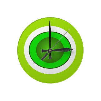 Hipster Neon Green Illusion 3D Design Ball Clock by CricketDiane 2013