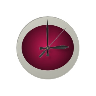 Hipster Red and French Grey 3D Design Ball Clock by CricketDiane 2013
