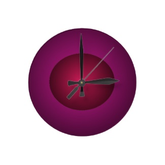 Red Purple 3D Design Ball Clock by CricketDiane 2013