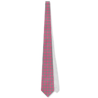 Pink and Grey Optical Illusion Chessboard Men's Tie by CricketDiane 2013