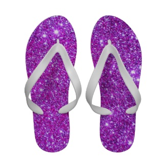 pink_purple_sparkle_glitter_glam_girly_flipflops sandals by cricketdiane