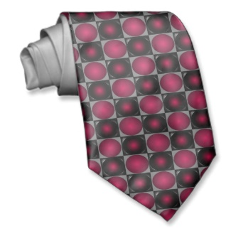 Red Optical Illusion Chess Board Men's Tie 2 by CricketDiane 2013