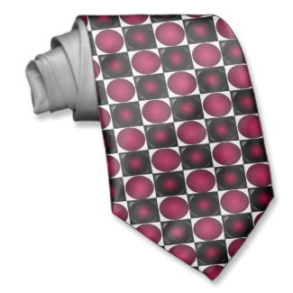 Red Optical Illusion Chess Board Mens Tie 4 by CricketDiane 2013