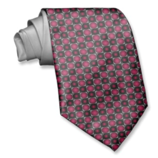 Red Optical Illusion Chess Board CricketDiane 2013 Mens Tie