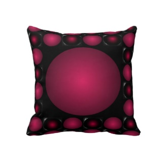 Hipster Modern Funk Red 3D Design Decorative Fashion Pillow by CricketDiane 2013