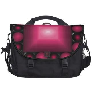 Reddish Chessboard Optical Illusion 3D Design Messenger Bag / Handbag / Computer Bag by CricketDiane 2013