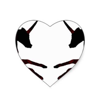Mystic Winged Unicorn Pegasus Heart Sticker by CricketDiane