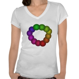 Color Spectrum Rainbow Tshirt 20 by CricketDiane 2013