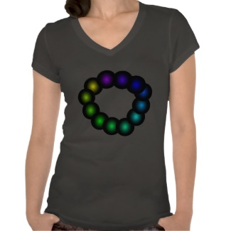 Color Spectrum Rainbow Womens' Tshirt 22 by CricketDiane 2013