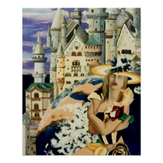 Summer Star Princess Castle Earth Fantasy Art Poster by CricketDiane 2013, 1995