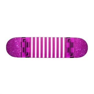Magenta Hot Pink Artsy Girls Skateboard by CricketDiane