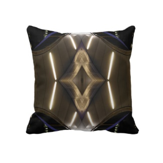 Metallic Designs Lights NYC Urban Futurism Pillow by CricketDiane 2013