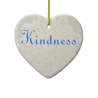 Light French Grey Beige Cream Kindness Heart by CricketDiane Christmas tree ornaments