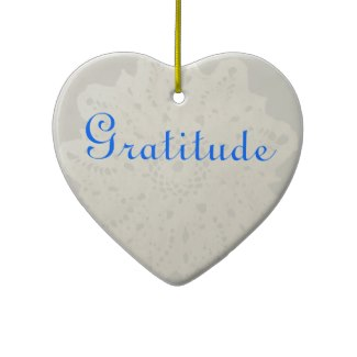 Light French Grey Character Holiday Grateful Heart Ornaments by CricketDiane