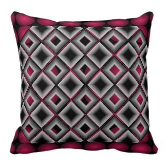 Designer Wildness Wine Red Black Grey Pillow 8 by CricketDiane