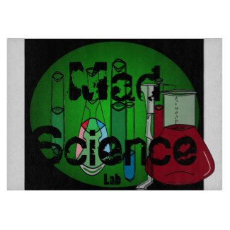 Mad Science Geek Kitchen Glass Cutting Board 1 by CricketDiane