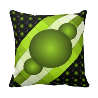 Yellow-Green 3D Color Design Pillow 6 by CricketDiane