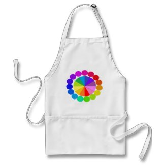 Colorwheel Apron Teaching Art Party Workshop 8 by CricketDiane 2014