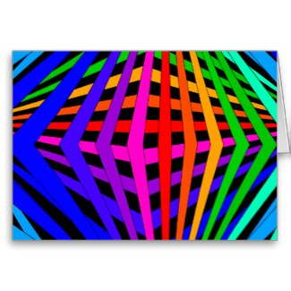 Geometric Rainbow Spectrum Designer Modern 1 Greeting Cards by CricketDiane