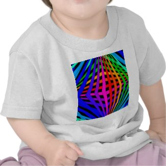 Geometric Rainbow Spectrum Designer Modern 1 T-shirt by CricketDiane