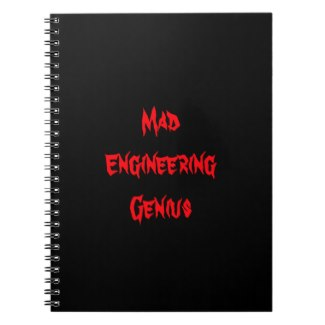 Mad Engineering Genius Geeky Geek Nerd Gifts Notebooks by CricketDiane