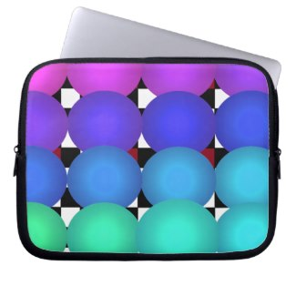 Spectrum Zipper Soft Laptop iPad Case Laptop Sleeve by CricketDiane