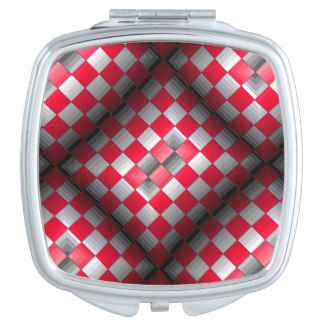 Cosmetic Mirror Modern Optical Geometric Design 10 by CricketDiane