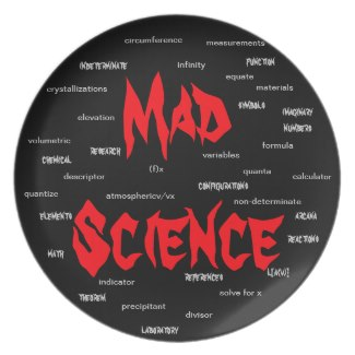 Mad Scientist Engineering Geeky Geek Nerd Gift 2xx Dinner Plates by CricketDiane
